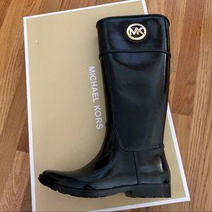 NIB Michael Kors Stockard tall rain boots